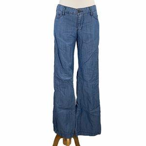 Pilcro Petite Tencel Linen Chambray Wide Leg Pants